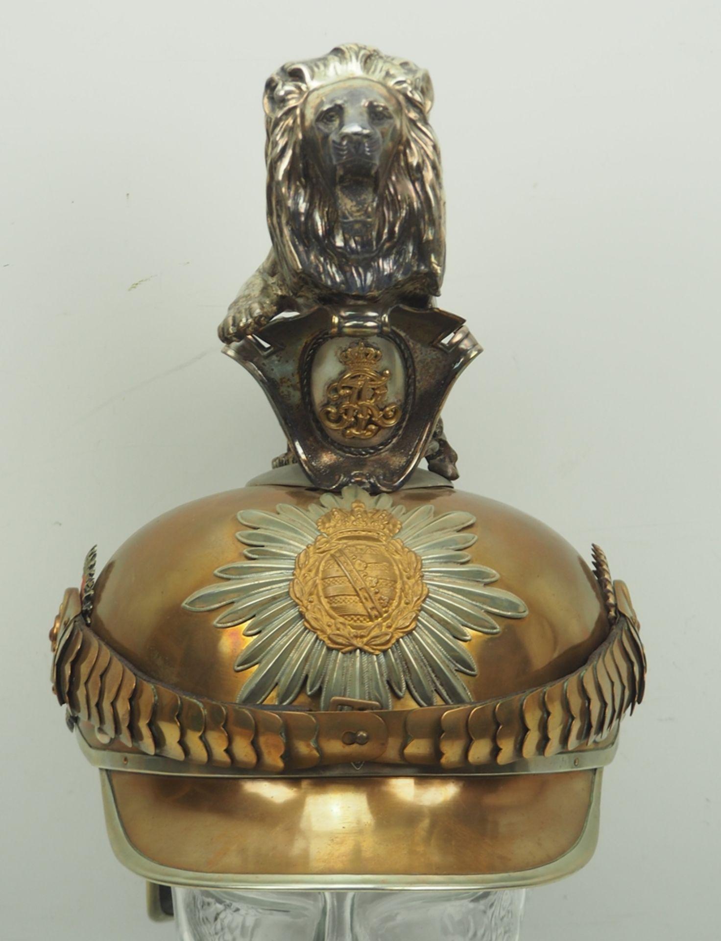 Sachsen: Königlich Sächsisches Garde-Reiter-Regiment, Helm für Mannschaften mit - Bild 4 aus 11
