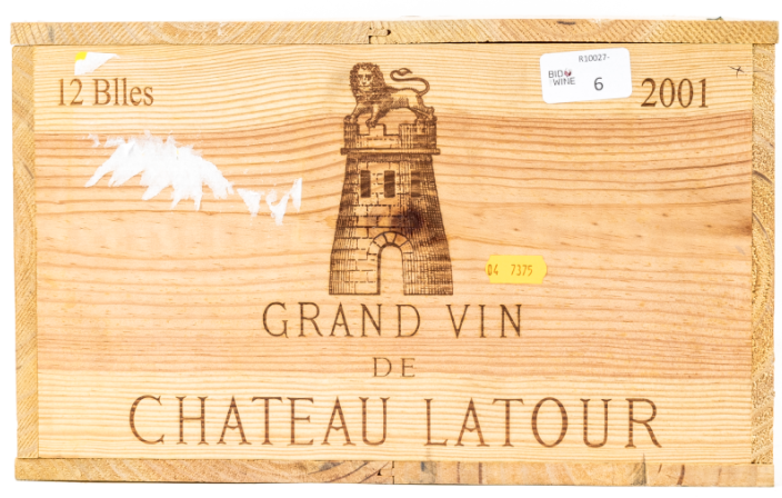 Lot 1 - 2001 Chateau Latour, 1er Grand Cru Classe, 12 bottles of 75cl, OWC