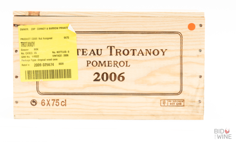 Lot 17 - 2006 Chateau Trotanoy, 6 bottles of 75cl, OWC