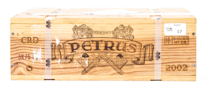 Lot 7 - 2002 Petrus , 3 bottles of 75cl, OWC
