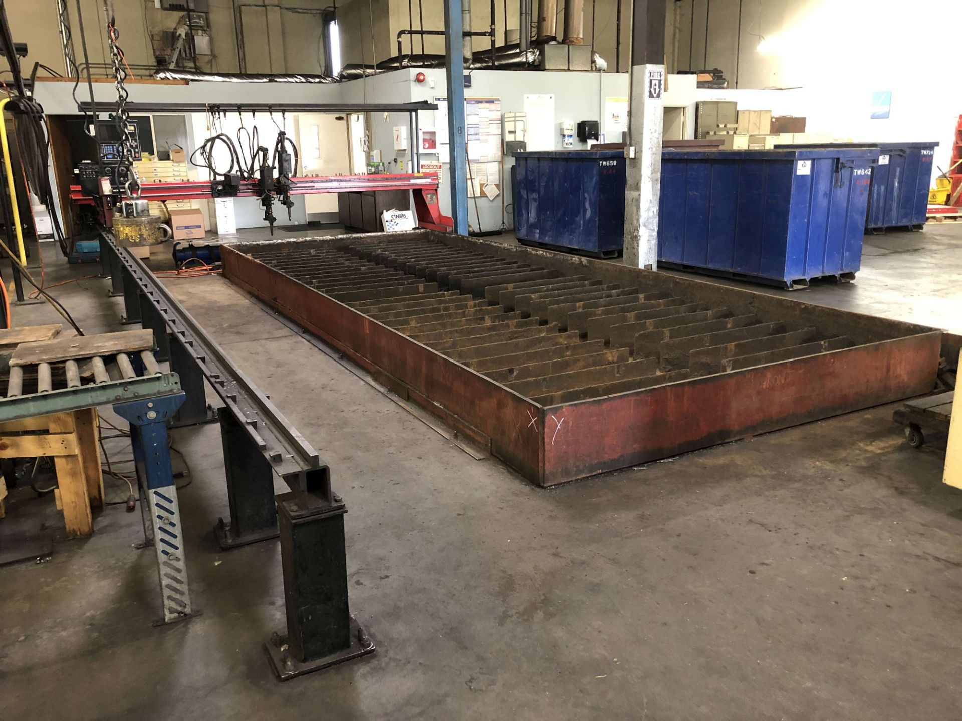 Lot 48 - 1993 MG Industries 10' x 25' CNC Plasma/Oxy Cutting System, Model Apollo HSG-10, Burny 5 CNC