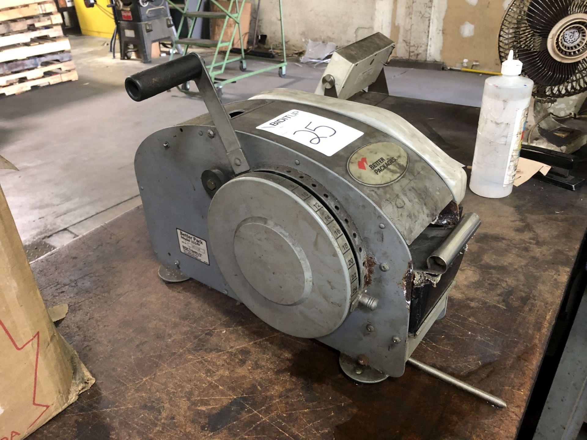 Lot 25 - Better Packages Model 333 Plus Tape Dispenser, S/N 1021729