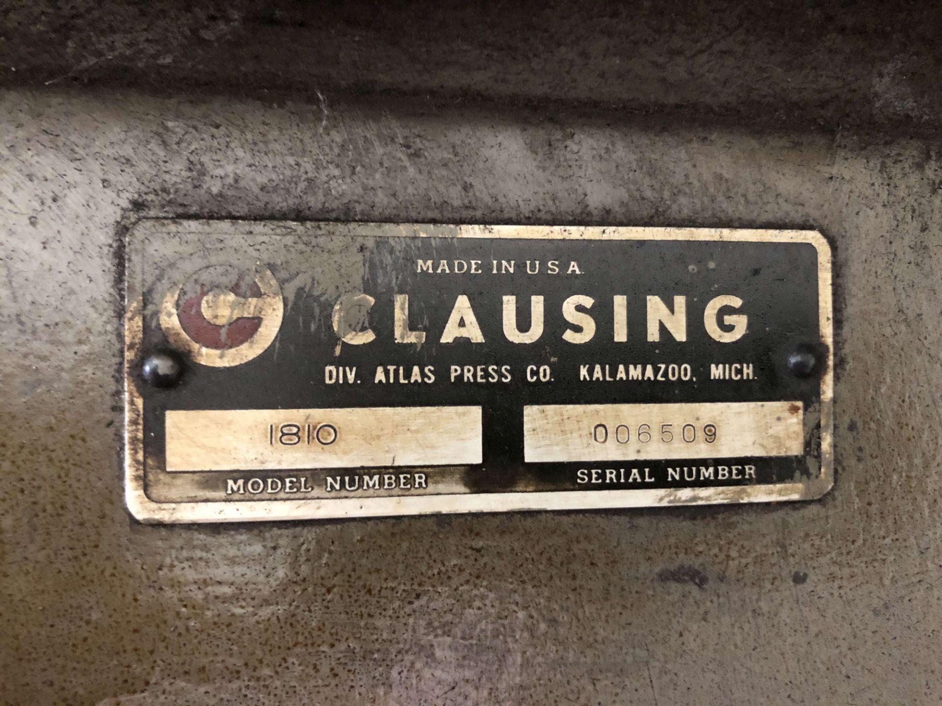 Lot 4 - Clausing Floor Drill Press, Model 1810, S/N 006509