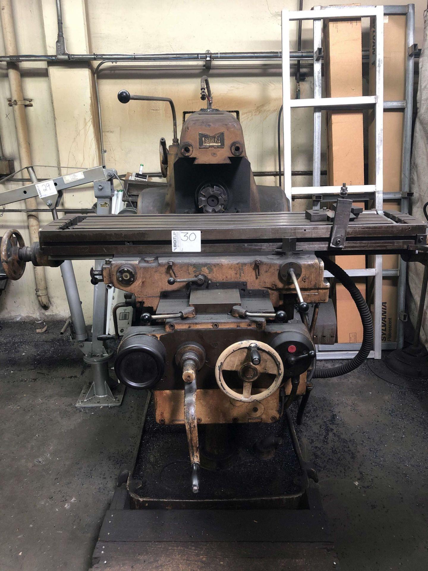 "Lot 30 - Hitachi Seiki Horizontal Mill, Type 2ML-P, 12"" x 53"" Table, 33 to 2,000 RPM, S/N N-6652"