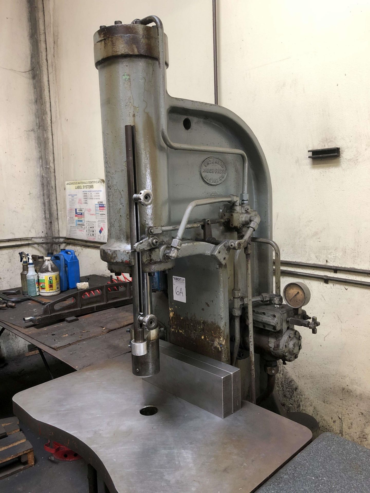 "Lot 6A - Greeneerd 60 Ton Hydraulic Arbor Press, Model H-60-AD-21, 24"" x 40"" Table, S/N 547287"