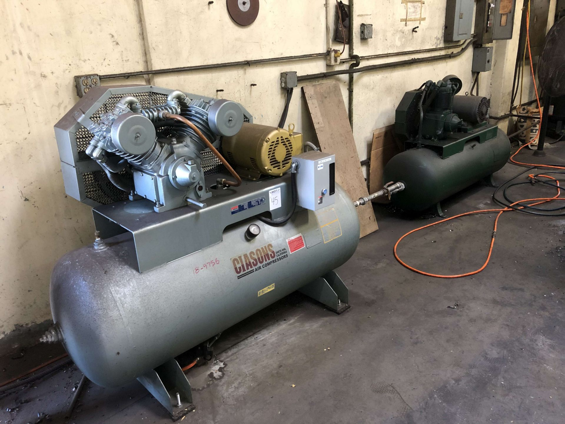 Lot 45 - 2018 Ciasons 10 HP Air Compressor, Model TS-B1012HDAE32, 120 Gallon Horizontal Tank, 40 CFM, 150