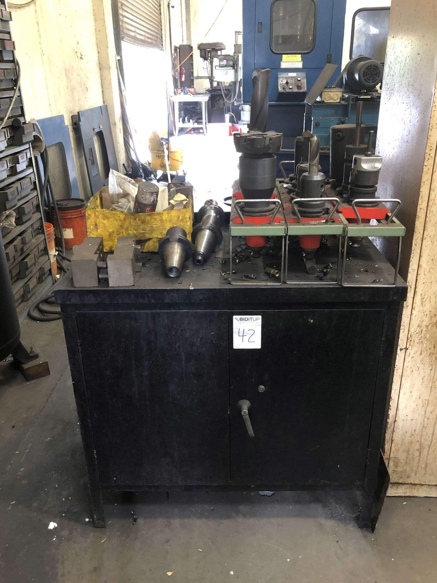 """Lot 42 - Cabinet (3' W x 2' D x 34"""" High); w/ Contents"""