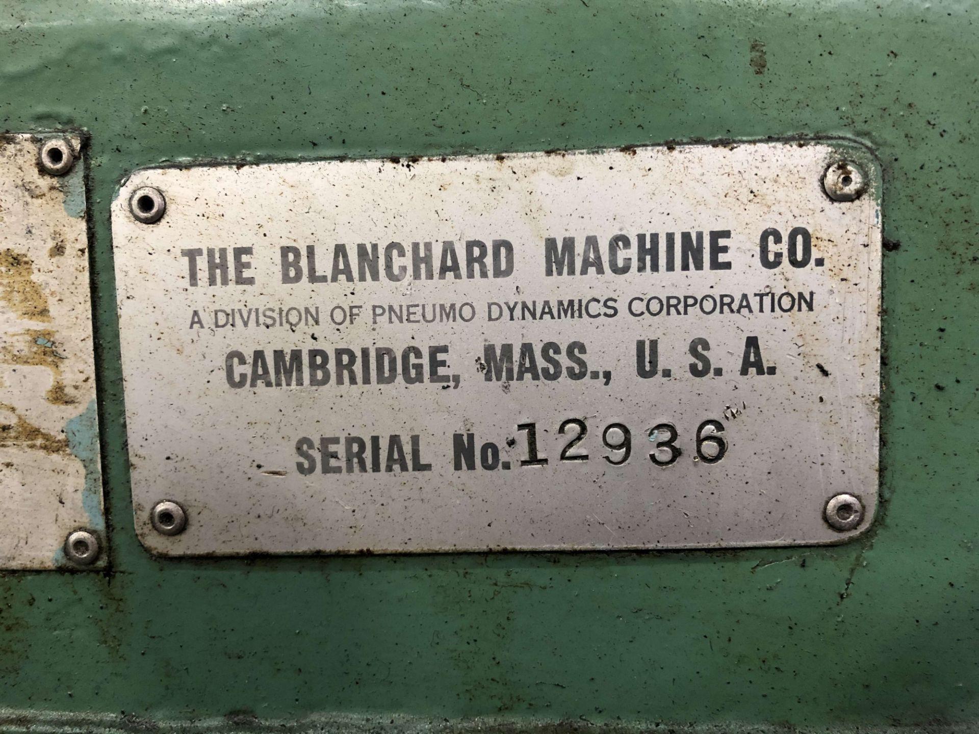 "Lot 52 - Blanchard No. 22 Rotary Surface Grinder, 42"" Diameter Table, Newall A50 DRO, Neutrofier II"