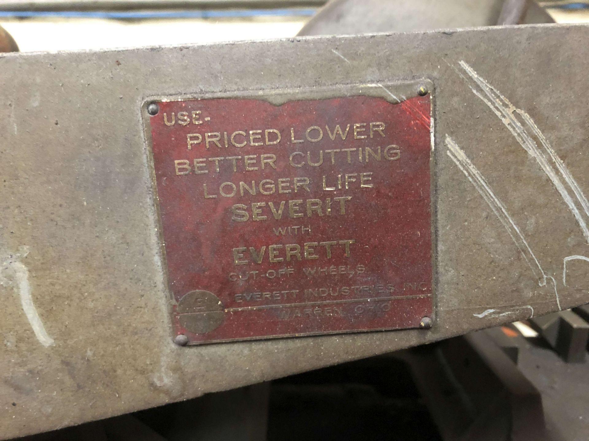 """Lot 28 - Everett Industries 8"""" Cut-Off Saw, 3 HP Motor"""