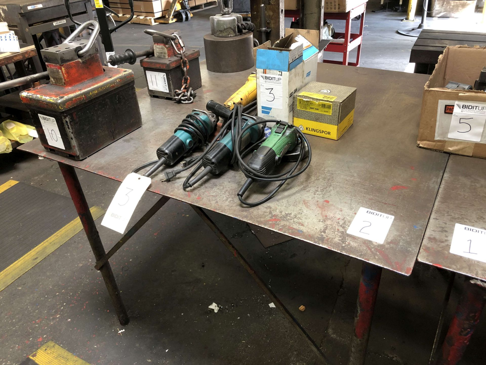 Lot 2 - Metal Table (4' x 4' x 3' High)