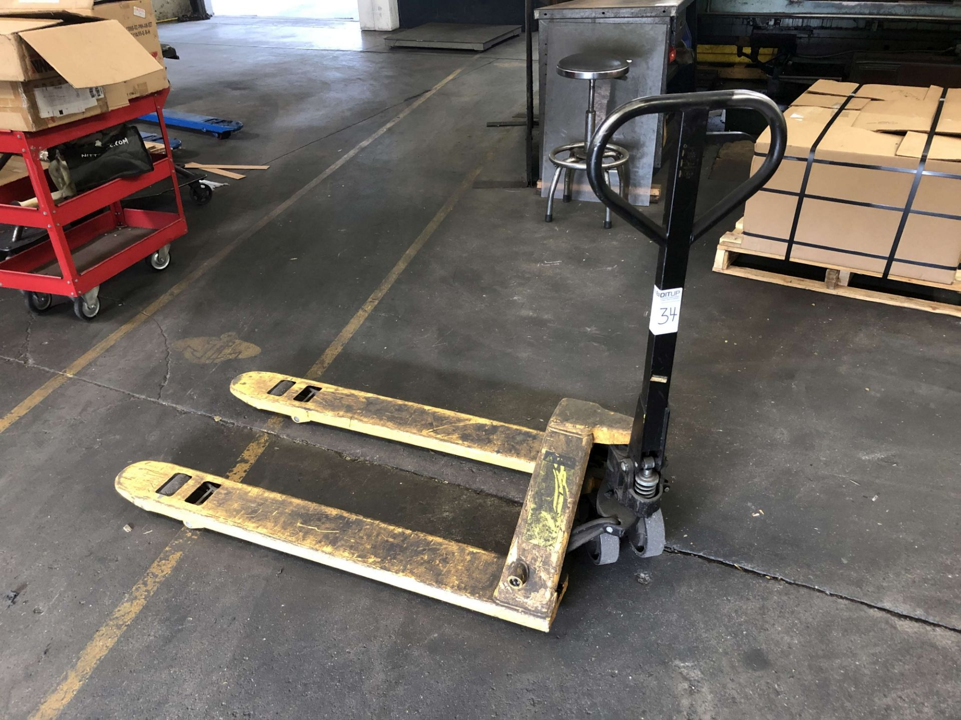 Lot 34 - 2008 Uline 5,500 Lb. Cap. Pallet Jack, Model H-1043, S/N 017353
