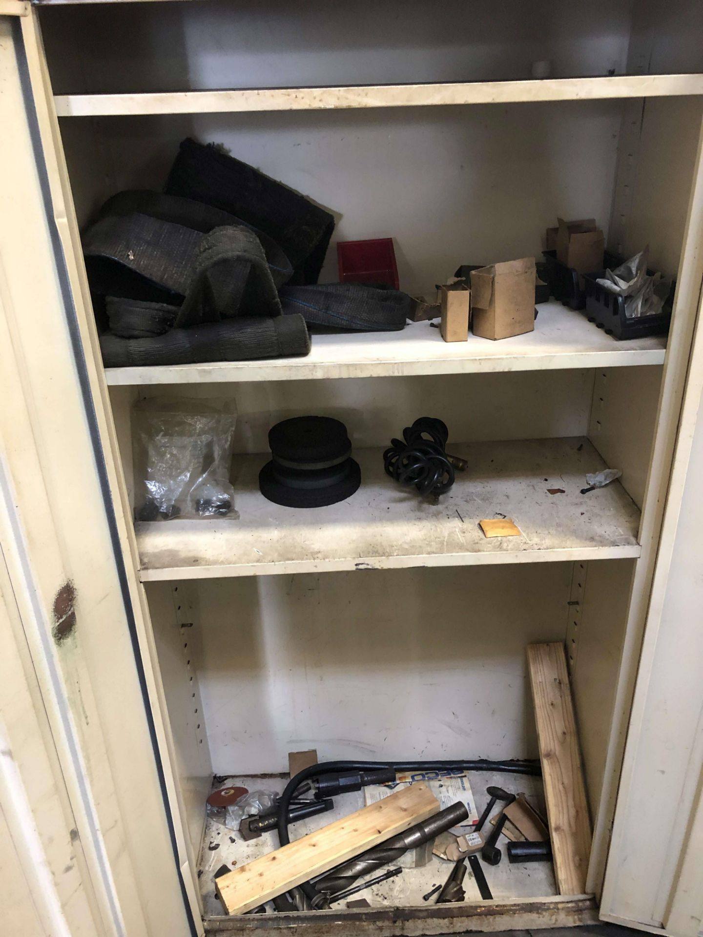 "Lot 43 - 2-Door Cabinet (3' W x 18""D x 6' High); w/ Contents"