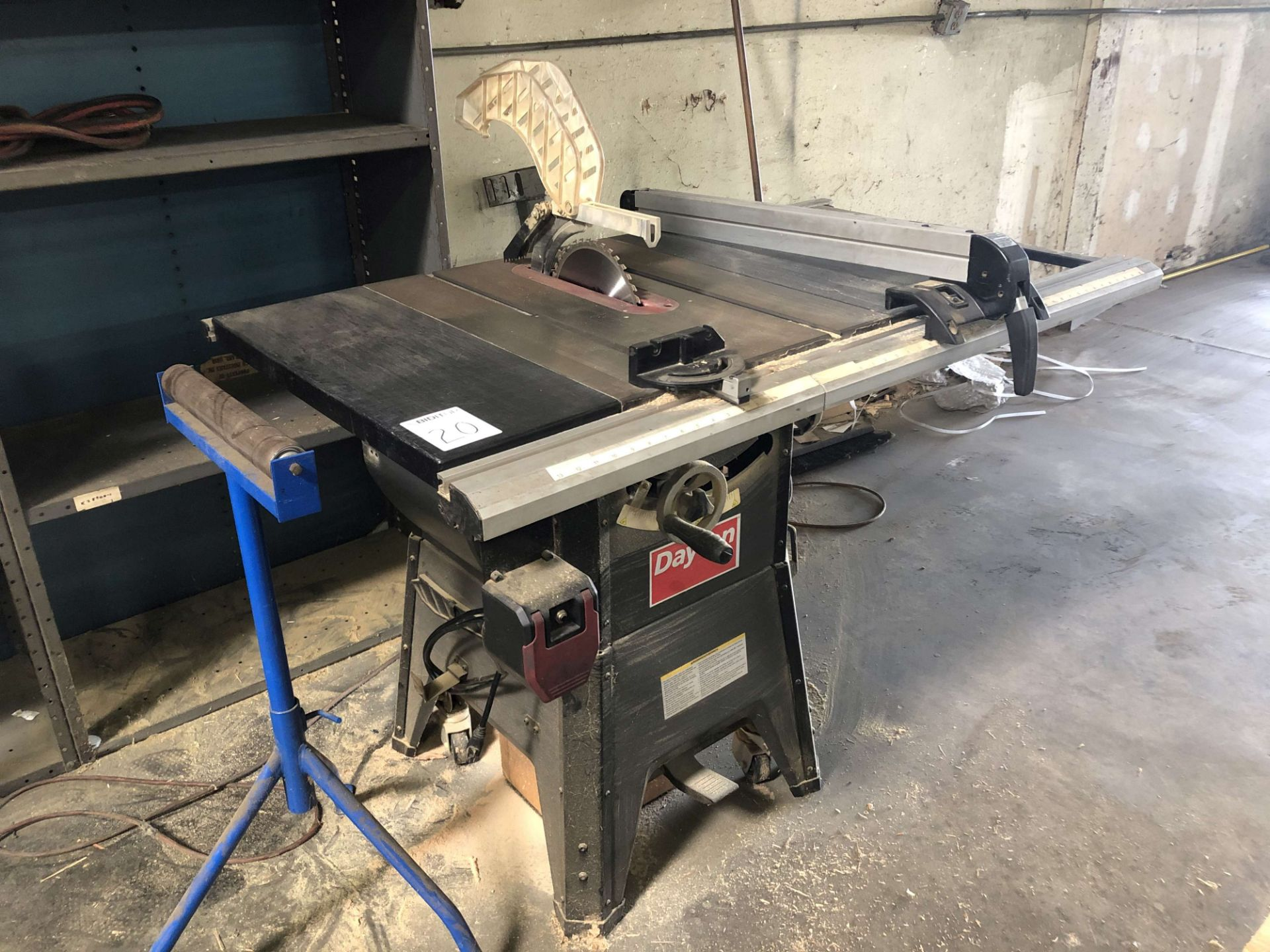 """Lot 20 - Dayton 10"""" Contractor Table Saw, Model 4KXD1"""