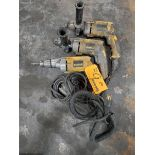 "DeWalt (3) 1/2"" VSR Drills"