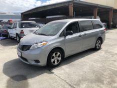 2013 Toyota Sienna L 7-Passenger Minivan, Odometer Read: 220,050 Miles on 5/30/2020, VIN: