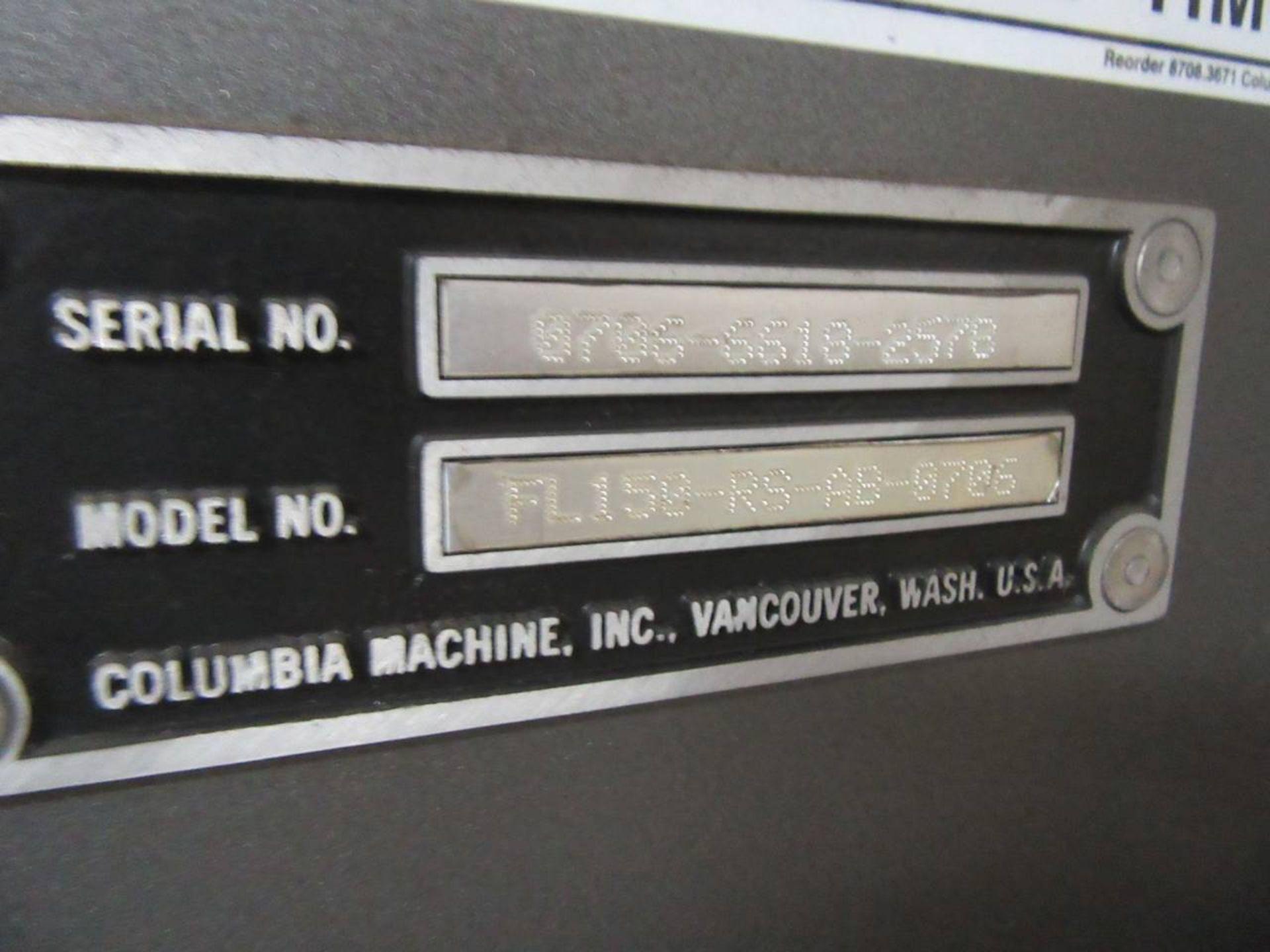 Lot 28 - Columbia FL-150-RS-AB-0706 Palletizer