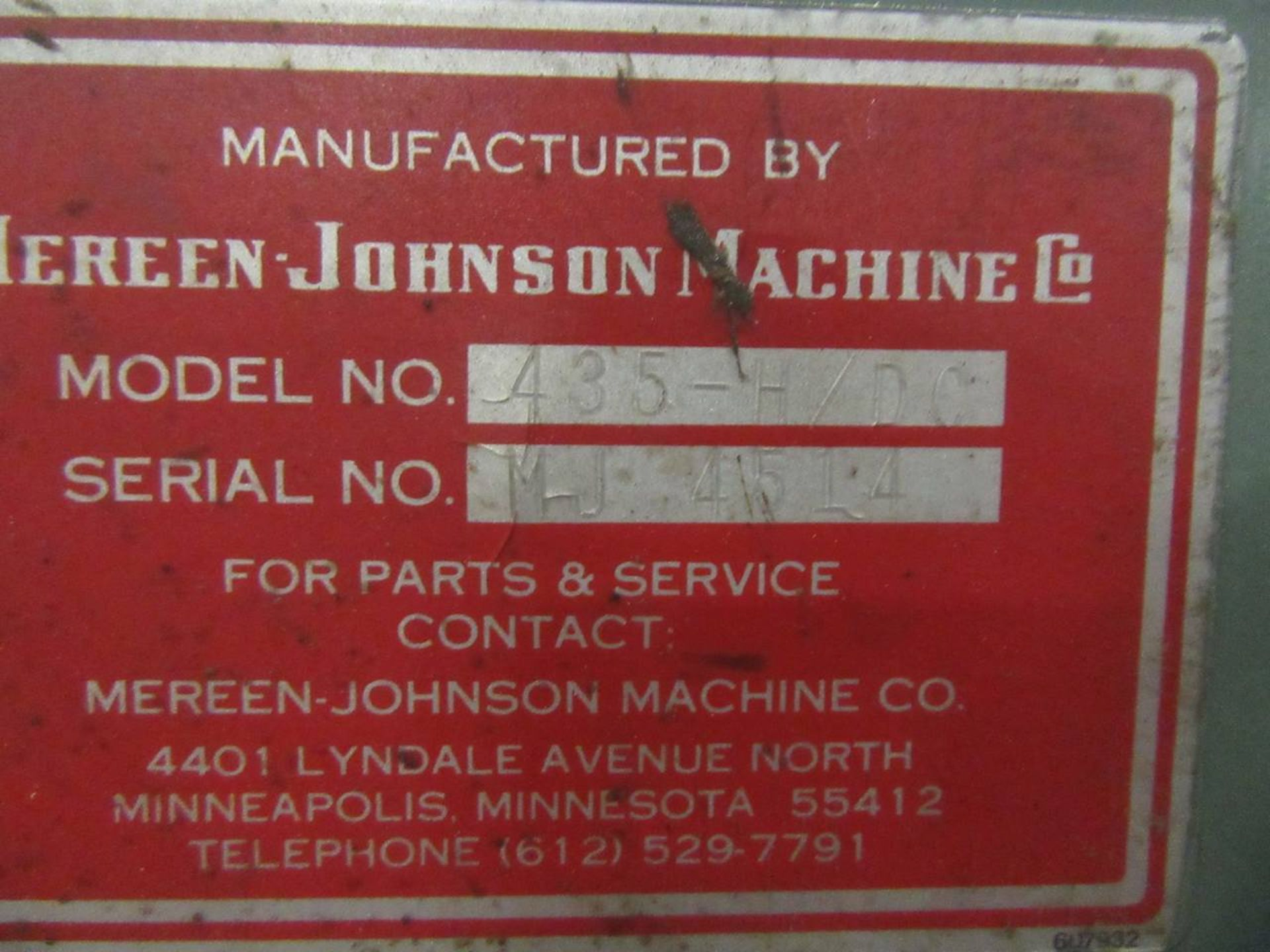 Lot 4 - Mereen Johnson 435-H/DL Rip Saw