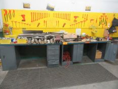 (2) Wood Top Work Stations