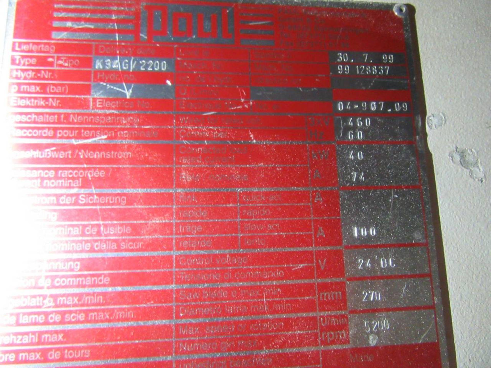 Lot 3 - 1999 Paul K34G/2200 Rip Saw