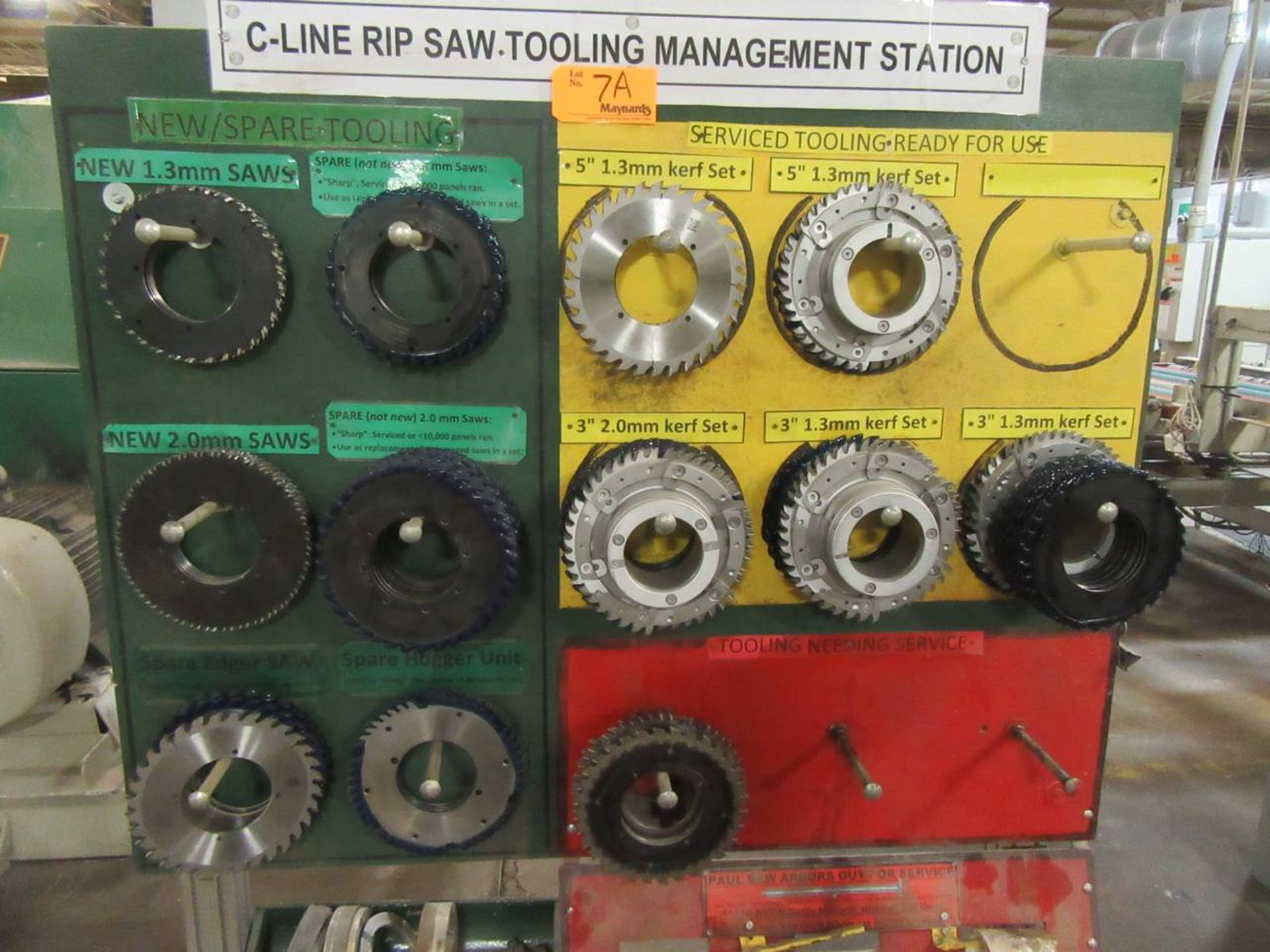 Lot 7A - Lot of Rip Saw Tooling