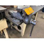 Wilton C10-42 5'' Torpedo Bench Vise Mounted To Table