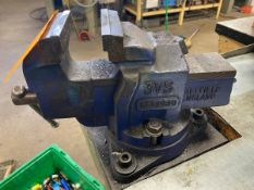 Sheffield England 3VS 4'' Bench Vise Mounted To WorkStation