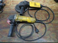 Assorted Electric Angle Grinders