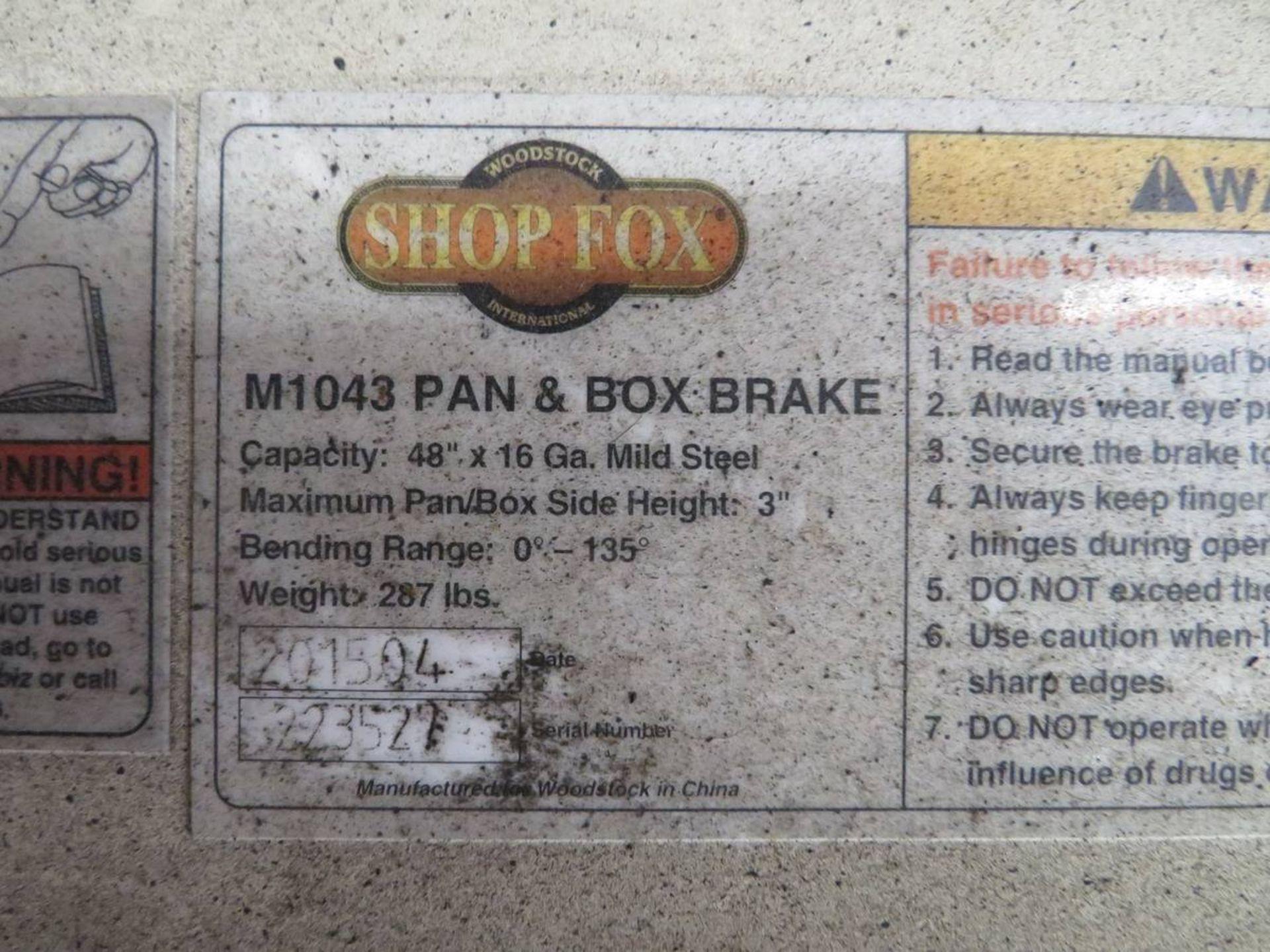 Lot 32 - Shop Fox M1043 Pan & Box Brake