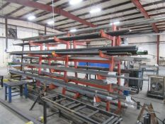 Cantilever Rack with Steel Inventory