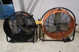 Power Fist/Commercial Electric Industrial Drum Fans