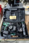 Hitchi DS 120VF3 SGX Cordless Drill and Light Set