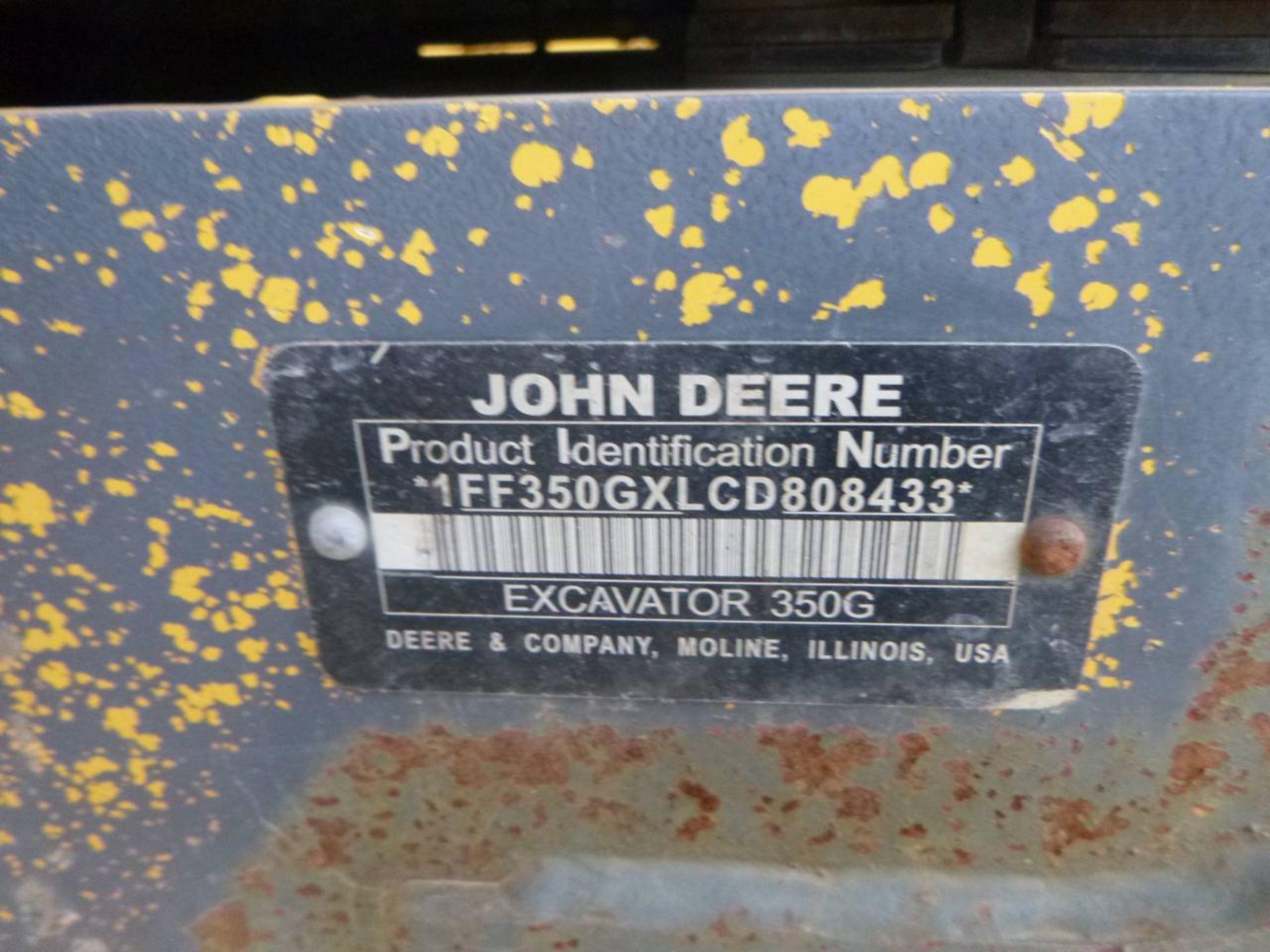 2012 John Deere 350G LC Excavator - Image 8 of 12