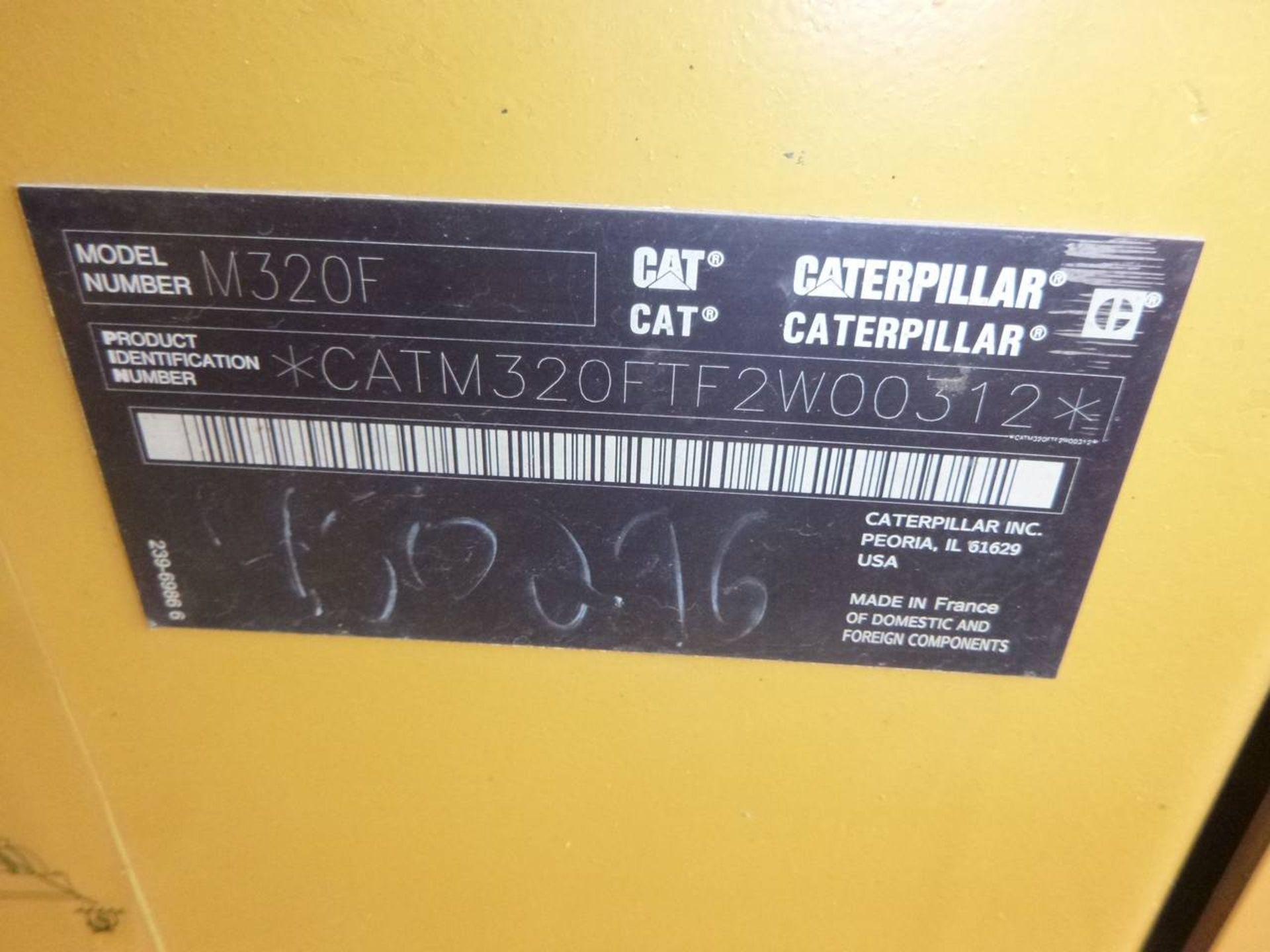 2015 Caterpillar M320F Wheel Excavator - Image 10 of 18