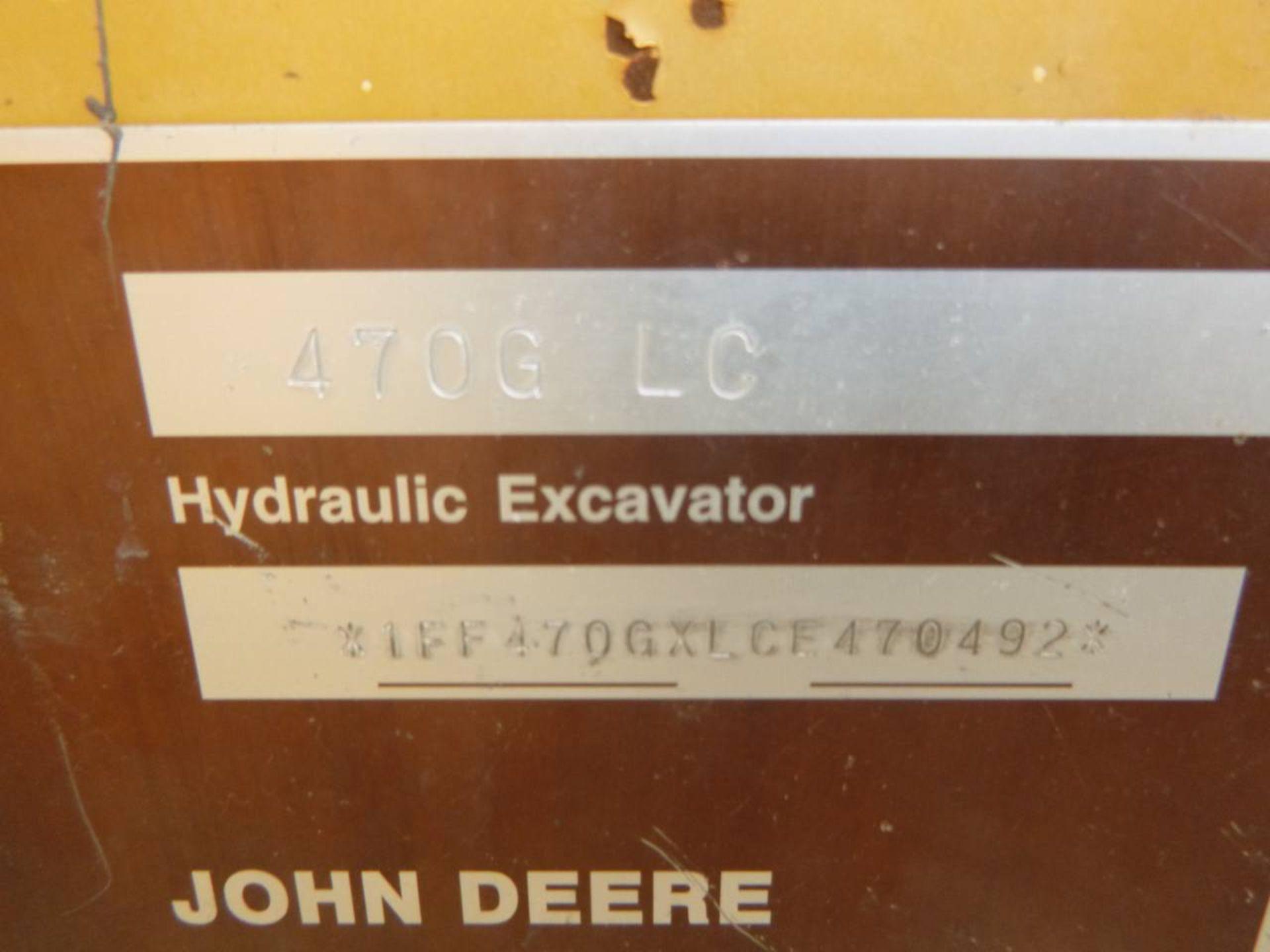 2014 John Deere 470G LC Excavator - Image 8 of 12