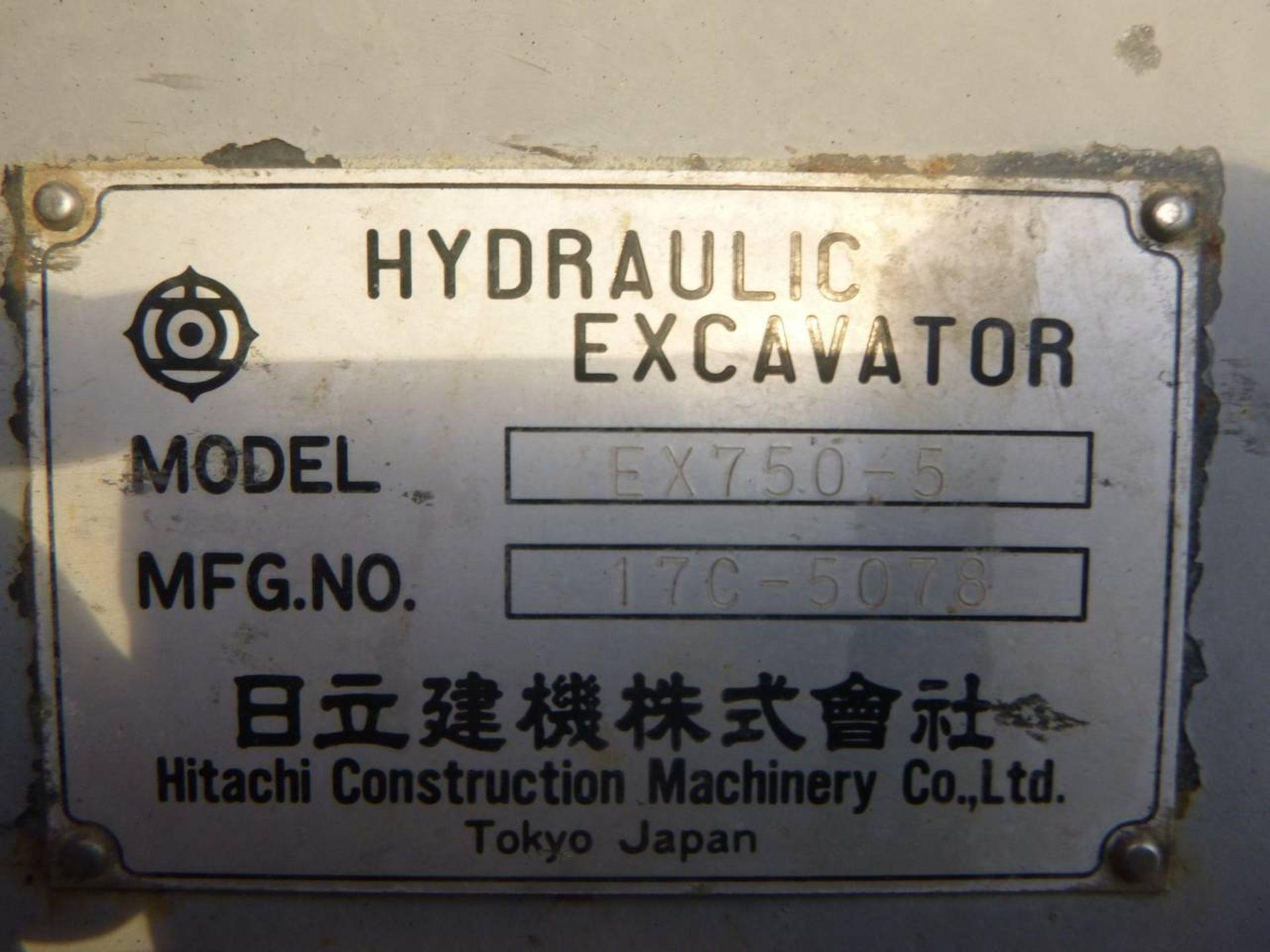 1997 Hitachi EX750-5 Excavator - Image 11 of 11