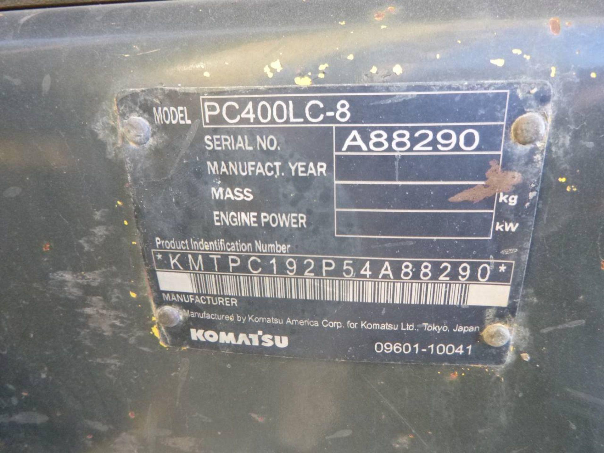 2008 Komatsu PC400LC-8 Excavator - Image 9 of 13