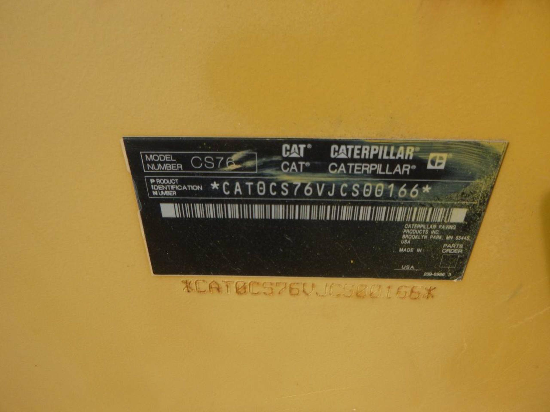 2011 Caterpillar CS76 Compactor - Image 9 of 9