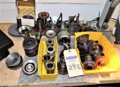 Lot Of Grinding Wheels, Tool Holders, Collets