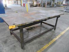 10' W x 5' L Steel Table