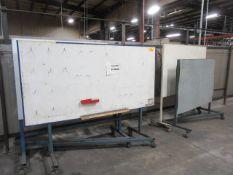 (4) Boards on castors