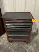5-Drawer Rolling Toolbox 18'' x 27'' x 34'' w/ contents of Assorted Nuts, Bolts, Allen Wrenches