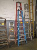 A-Frame Ladder to Include: (1) Fiberglass, 10'; (1) Fiberglass 8' [Loc: Church Hill]