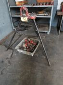 """Ridgid Tri-Stand Manual Pipe Threader with Assorted Dies, 5/8"""" - 2"""" [Loc: Church Hill]"""