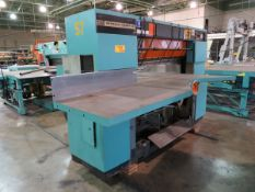"""Seybold Saber IV Trimmer 58"""" Max Capacity, with 91"""" X 73"""" Adjustable Height Transfer Table [Loc:"""