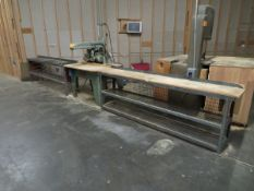"""Wadkin Bursgreen Radial Saw 10"""", with Support Stand and Conveyor [Loc: Church Hill]"""