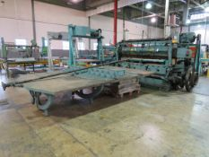 """Seybold 152J-MS Trimmer 96"""" Max Capacity, with 12' X 8' Transfer Table S/N 15ZJ-325 [Loc: Church"""