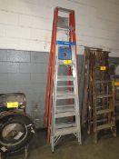 A-Frame Ladder to Include: (1) Fiberglass, 8'; (1) Aluminum 6' [Loc: Church Hill]
