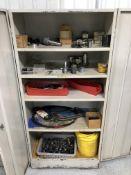 """2-Door Cabinet (34-1/2"""" W x 18"""" D x 73"""" High) w/ Contents"""
