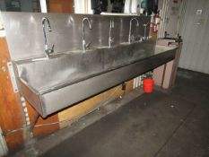 8' long Stainless Steel Sink and Water Fountain