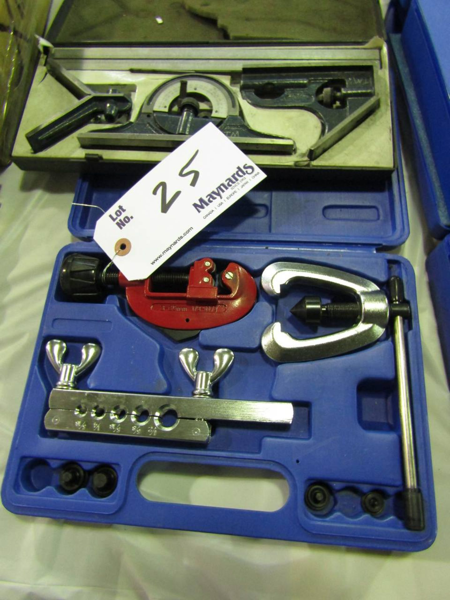 Pipe Cutter Kit and a Square